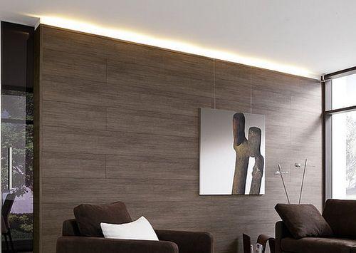 Красивый ламинат на стене