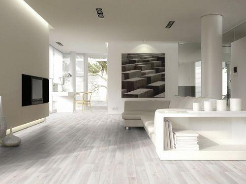 Дизайн с белым ламинатом